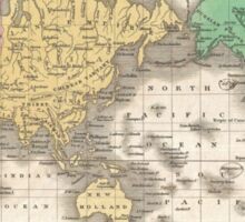 Vintage Map of The World (1827) Sticker