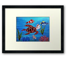 Swimming the sea Framed Print