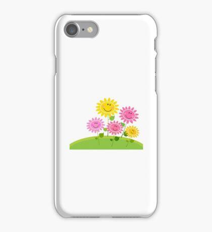Happy Spring Flower Garden. Vector Illustration iPhone Case/Skin