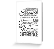 Serenity Prayer - Chalk Typography Greeting Card