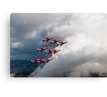 Cloud riders: the Red Arrows Canvas Print