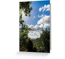 Majestic overview to the beautiful valley from the top of the hill, Alsace, France Greeting Card