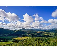 Majestic overview to the beautiful valley from the top of the hill, Alsace, France Photographic Print