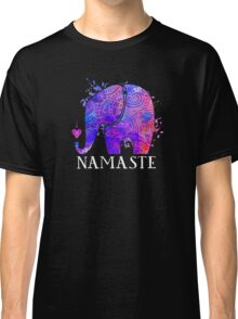 Namaste Elephant Peaceful Watercolor Classic T-Shirt
