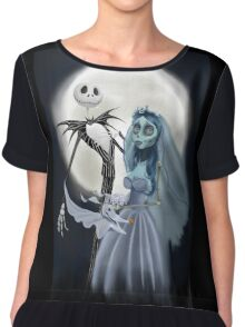 Tim burton mash up Chiffon Top