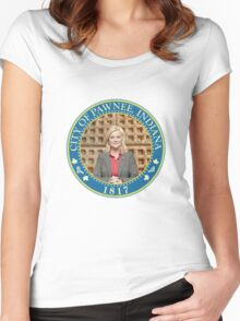 Parks and Rec Pawnee Seal Women's Fitted Scoop T-Shirt