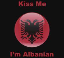 Kiss Me I'm Albanian Baby Tee