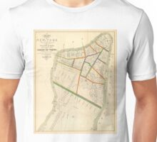 Vintage Map of New York City (1831)  Unisex T-Shirt