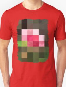 Pink Roses in Anzures 3 Abstract Rectangles 3 Unisex T-Shirt