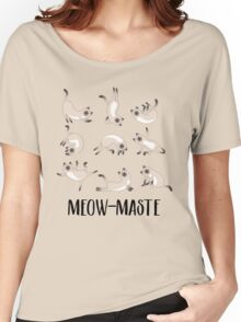 Meow-maste Namaste Yoga Cats Women's Relaxed Fit T-Shirt