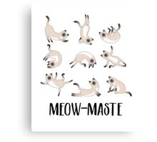 Meow-maste Namaste Yoga Cats Canvas Print