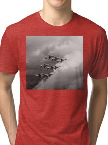 Cloud riders: the Red Arrows black and white version Tri-blend T-Shirt