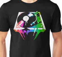 Melting Turntable (vintage distressed look) Unisex T-Shirt