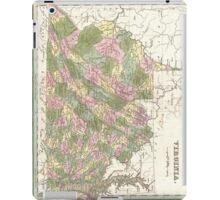 Vintage Map of Virginia (1838)  iPad Case/Skin