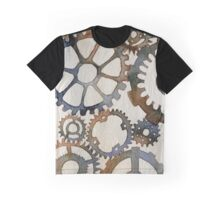 Cogs Watercolor Painting Graphic T-Shirt