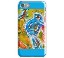 HAPPY FLYING INSPIRATIONAL BLUE BIRD  iPhone Case/Skin