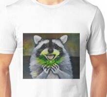 Kiki; the Curious Dumpster Panda Finds a Firefly Unisex T-Shirt