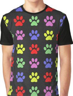 Paw Prints Pattern Graphic T-Shirt