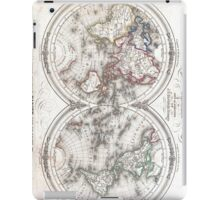 Vintage Map of The World (1848)  iPad Case/Skin