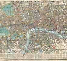 Vintage Map of London (1848) by BravuraMedia