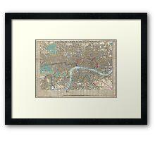 Vintage Map of London (1848) Framed Print