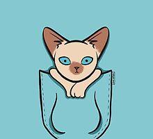 Pocket Siamese Kitty Cat by Zoe Lathey