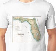Vintage Map of Florida (1848)  Unisex T-Shirt