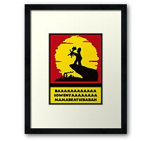 Simpsons Lion King Tshirt Framed Print