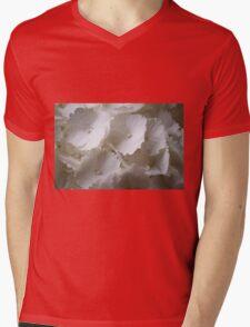 white hydrangea Mens V-Neck T-Shirt