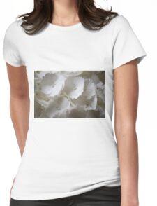 white hydrangea Womens Fitted T-Shirt