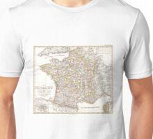 Vintage Map of France (1850)  Unisex T-Shirt