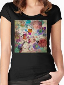 Abstract Expressionism Women's Fitted Scoop T-Shirt