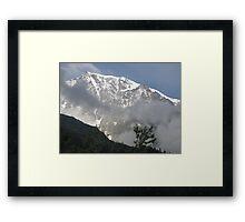 solo lassù io ti ho ritrovato....Monte Rosa - Italy - Framed Print
