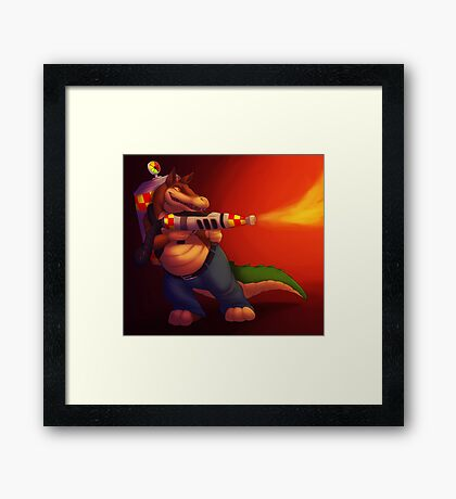 All Fired Up Framed Print