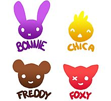 Bonnie, Chica, Foxy and Freddy Photographic Print