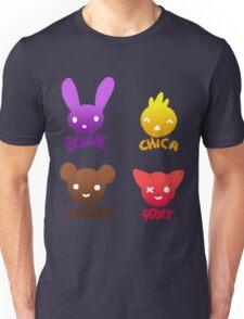 Bonnie, Chica, Foxy and Freddy Unisex T-Shirt