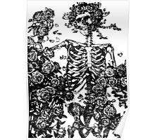 Grateful Dead - Skeleton Roses Poster
