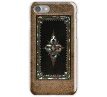 Mother Of Pearl On Old Leather Design iPhone Case/Skin