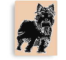 Connect the Yorkie Dots Canvas Print