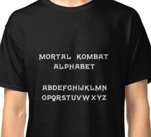 Mortal Kombat Alphabet Classic T-Shirt