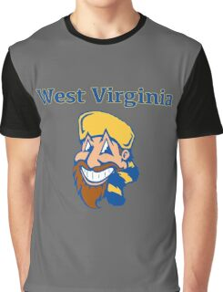 West Virginia Happy Mountaineer Graphic T-Shirt