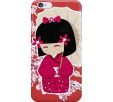 Sakura Kokeshi Doll iPhone Case/Skin