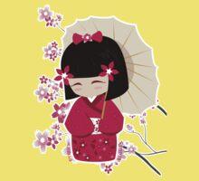 Sakura Kokeshi Doll Kids Tee