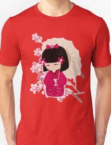 Sakura Kokeshi Doll Unisex T-Shirt