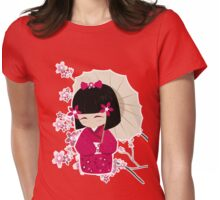 Sakura Kokeshi Doll Womens Fitted T-Shirt