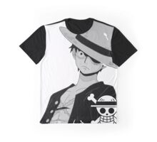 Luffy Black & White Graphic T-Shirt