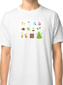 Spring, garden &, agriculture symbols and elements Classic T-Shirt
