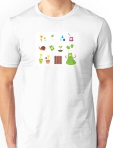 Spring, garden &, agriculture symbols and elements Unisex T-Shirt