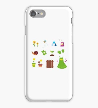 Spring, garden &, agriculture symbols and elements iPhone Case/Skin