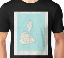 USGS TOPO Map Rhode Island RI Block Island 353243 1957 24000 Unisex T-Shirt